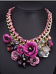 New Arrival Fashional High Quality Luxury Delicate Crystal Flower Necklaec
