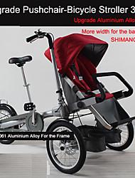 "16 sillas de bebé ""cochecito convertible dobles ruituo ™ marco de aleación de aluminio de 3 ruedas bici plegable para gemelos"