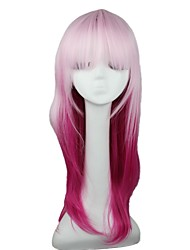 Capless Long Straight Pink Synthetic Women Wig
