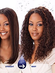 "3Pcs Lot  12""-26"" Indian Virigin  Natural Black Wet&Wavy Jerry Curl Hair Weaves"