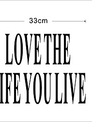 Love The Life You Live Wall Decal Zooyoo8177 Decorative DIY Removable Vinyl Wall Sticker