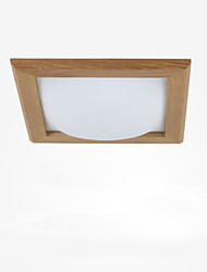 Modern Simple Living Room CROSS Ceiling Lamp Wooden  LED Veneer Ceiling Lighting Bedroom Decoration