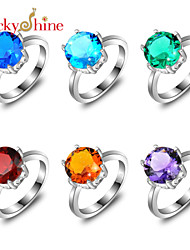 Ring Fashion Party Jewelry Silver Statement Rings 1pc,7 / 8 / 9½ Silver