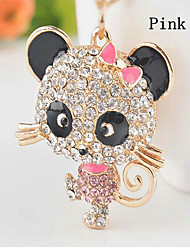Bear Rhinestone Wedding Keychain Favor