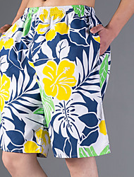 Man's Flower Design Plus Sizes Shorts