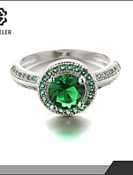 Statement Rings Fashion Colorful Zircon Cubic Zirconia Platinum Plated Jewelry For Wedding Party 1pc