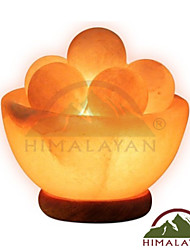 Himalayan Ionic Hand Carved Fire Bowl Lamp w/6 Massage Balls