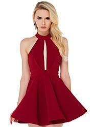 Women's Sexy / Party Dress Above Knee Chiffon
