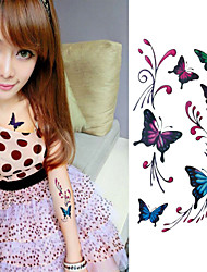 Gorgeous Colourful Butterfly Tattoo Stickers Temporary Tattoos(1 Pc)