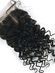 8-18inch Brazilian Virgin Hair Closure Middle Part Lace Closure Curly Virgin Brazilian Top Closure