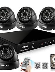 zosi® 800tvl HDMI 500GB HDD 8CH H.264 DVR-Kits 4x Außen ir cctv-Kamera-Sicherheitssystem