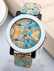 Brand New Fashion Women Watch Quartz Watch PU Strap High Quality Printing Dial Ladies Watch.