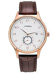 Sinobi Watch Men's Leather Quartz Wrist Watch