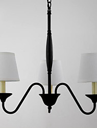 American Style of Northern Europe Contracted Rural Lamp, Wrought Iron Chandelier Hanging Absorption