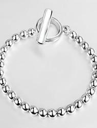 argento casuale catena placcata perline braccialetto& Link Bracelets 2015 il nuovo disegno