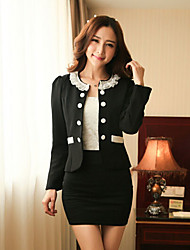 Women's Round Coats & Jackets , Nylon Bodycon/Work Long Sleeve HNSP