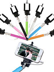 filaire selfie bâton retardateur support réglable pour iOS et Android (couleurs assorties)