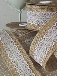 Côr Sólida Juta Fitas de casamento-5M Piece / Set Laço com Tecelagem Laço Para Presente