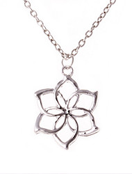 Women's Fashion Jewelry Vintage Casual Alloy The Hobbit Galadriel Flower Pendant Necklace