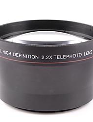 Lente de 67mm 2.2x tele adjunta de propósito general para el canon nikon cámara 67mm calibre puede ser utilizado