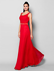 Formal Evening Dress - Ruby Plus Sizes / Petite Sheath/Column Scoop Floor-length Chiffon