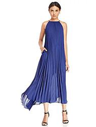 chiffon de moda slim fit plus size vestido boêmio feminina