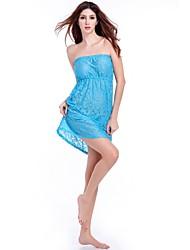 Matches Bikini 2015 Tube Top Casual Loose Strapless Big Fat Women Plus Size Beach Dress Lace