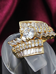 Party Gold Plated Statement Ring Engagement Rings 2015 New Design