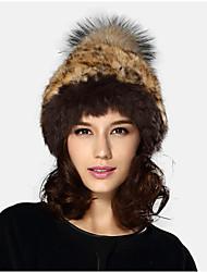Kenmont Lady Women Cloche Hat Winter 100% Rabbit Hair Warm Fur Cap 1351