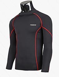 Men's Long Sleeve T-Shirt , Lycra/Nylon Casual/Sport Pure