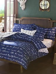 Mingjie City Style Blue Sanding Bedding Sets 4pcs Duvet Cover Sets Bed Linen China Queen Size and Full Size