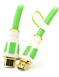 hd hdmi v1.4 haute vitesse par modem câble hdmi mâle à mâle convertisseur de câble d'extension Ethernet 1080p 3d hdtv hd