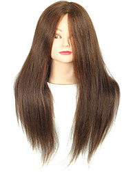 18 Inch Blended Hair Salon Female Mannequin Head with Make-up Color Brown