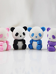 Creative Panda Detachable Rubber Eraser (Random Color)
