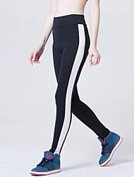 Feminino Estampada Legging,Poliéster Fibra de Carbono de Bambú Fibra de Bambú Fina