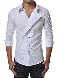 Diman  Men's Long Sleeve Casual Shirts (Cotton)