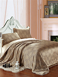 Hot King Size Coffee Silk Duvet Covers