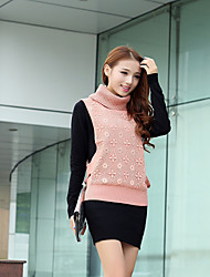 women high collar  knit custom two-piece dress