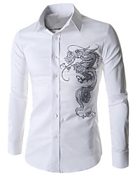 Man's China Dragon Long Sleeve Shirt