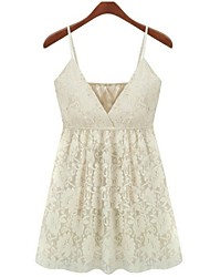 Women's Straps Tops & Blouses , Lace Casual Sleeveless SSHJP