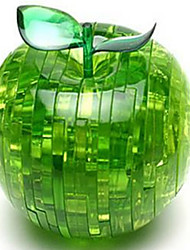 3D Crystal Apple Puzzle (Optional Colors)