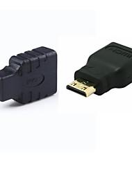HDMI femelle vers mini HDMI mâle AMP; hdmi aux micro HDMI adaptateur mâle convertisseur set / 2pcs (1xmini hdmi + 1xmicro hdmi)