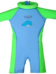 Tops de Natação/Bottoms Swimwear ( Verde/Rosa ) - Crianças -Respirável/Alta Respirabilidade (>15,001g)/Resistente Raios