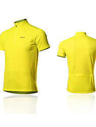 SPAKCT® Cycling Jersey Men's Short Sleeve Bike Breathable / Reflective Strips Tops 100% Polyester Classic / Slim Spring / SummerRacing /