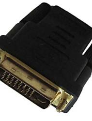 dvi dvi mâle -d (24 + 5) vers HDMI femelle adaptateur convertisseur coupleur menuisier convertisseur