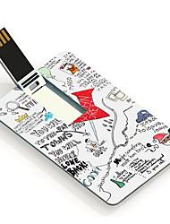 64GB Paper Towns Design Pattern Card USB Flash Drive