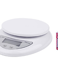 "1.7 ""lcd balanza de cocina digital (5kg resolución max / 1 g) de alta precisión"