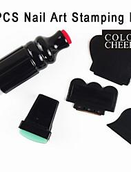5pcs diy nail art stempelen printer machine