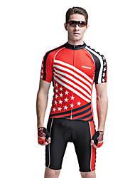 forider® manga corta ciclismo bicicleta Jersey trajes de hombre de ropa para hombres, bandera trajes estrella