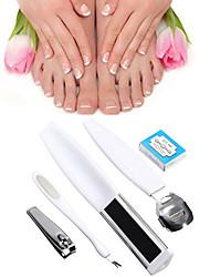5 in 1 Manicure Pedicure Set Rasp File Callus Shaver Blades Foot Nail Care Tool (Random Color)